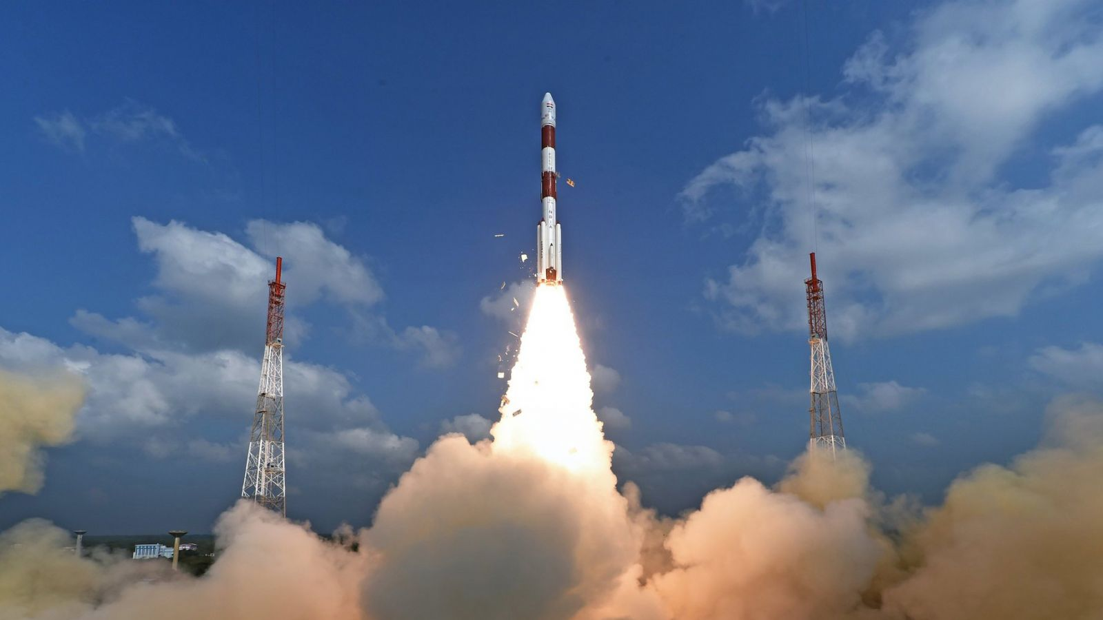 PSLV C40 launch photo credit ISRO