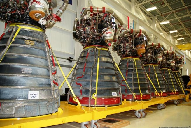 RS-25 Space Shuttle Main Engines at Kennedy Space Center in Florida Photo Credit Jason Rhian SpaceFlight Insider