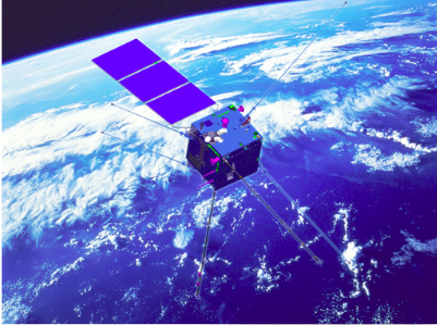 Artist's rendering of the Zhangheng-1 satellite.