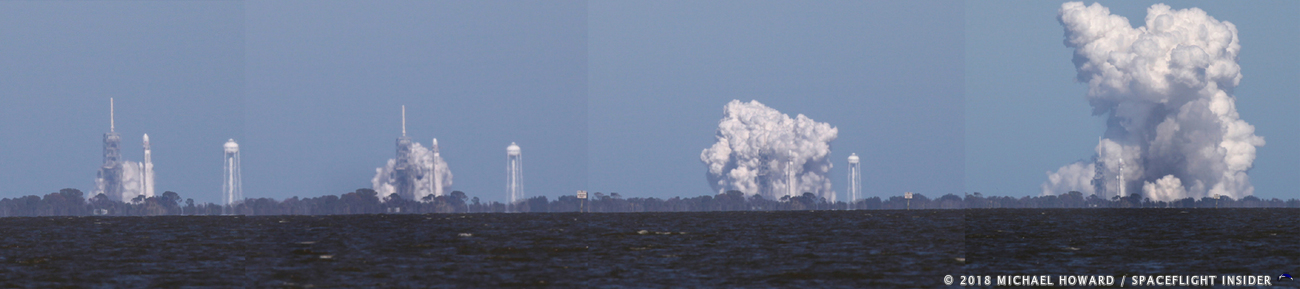 SpaceX conducted a static test fire of its Falcon Heavy rocket on Wednesday, Jan. 24 at approximately 12:30 p.m. EST at Kennedy Space Center's Launch Complex 39A in Florida. Photo Credit: Mike Howard / SpaceFlight Insider