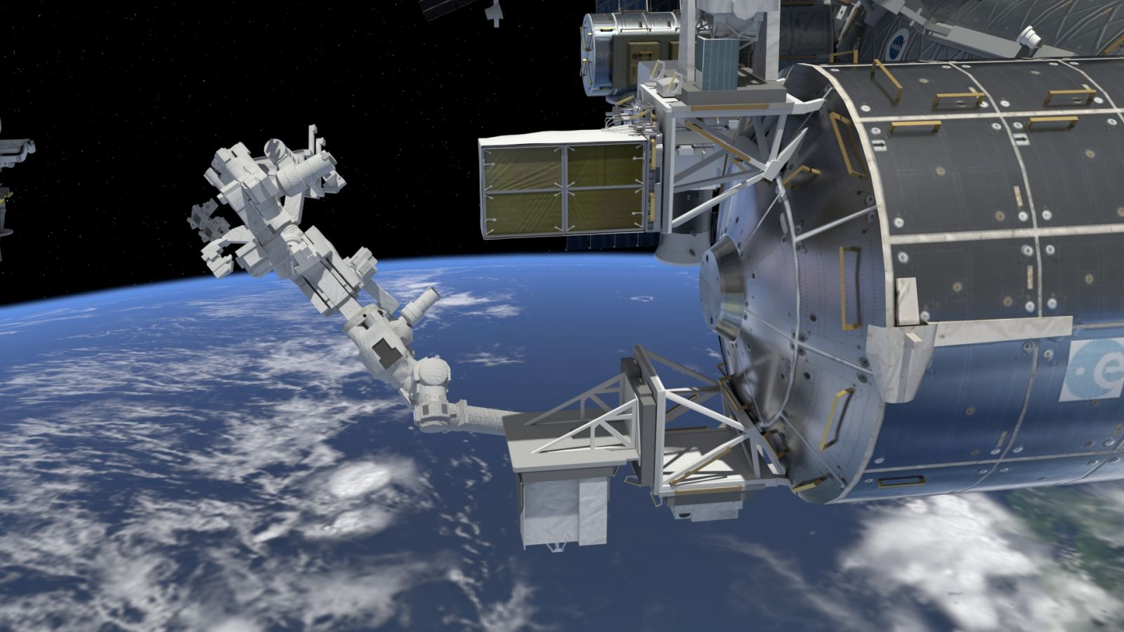 An artist's rendering of the Space Debris Senor installed on the International Space Station. It was one of two external instruments recently installed at the orbiting outpost. Image Credit: NASA