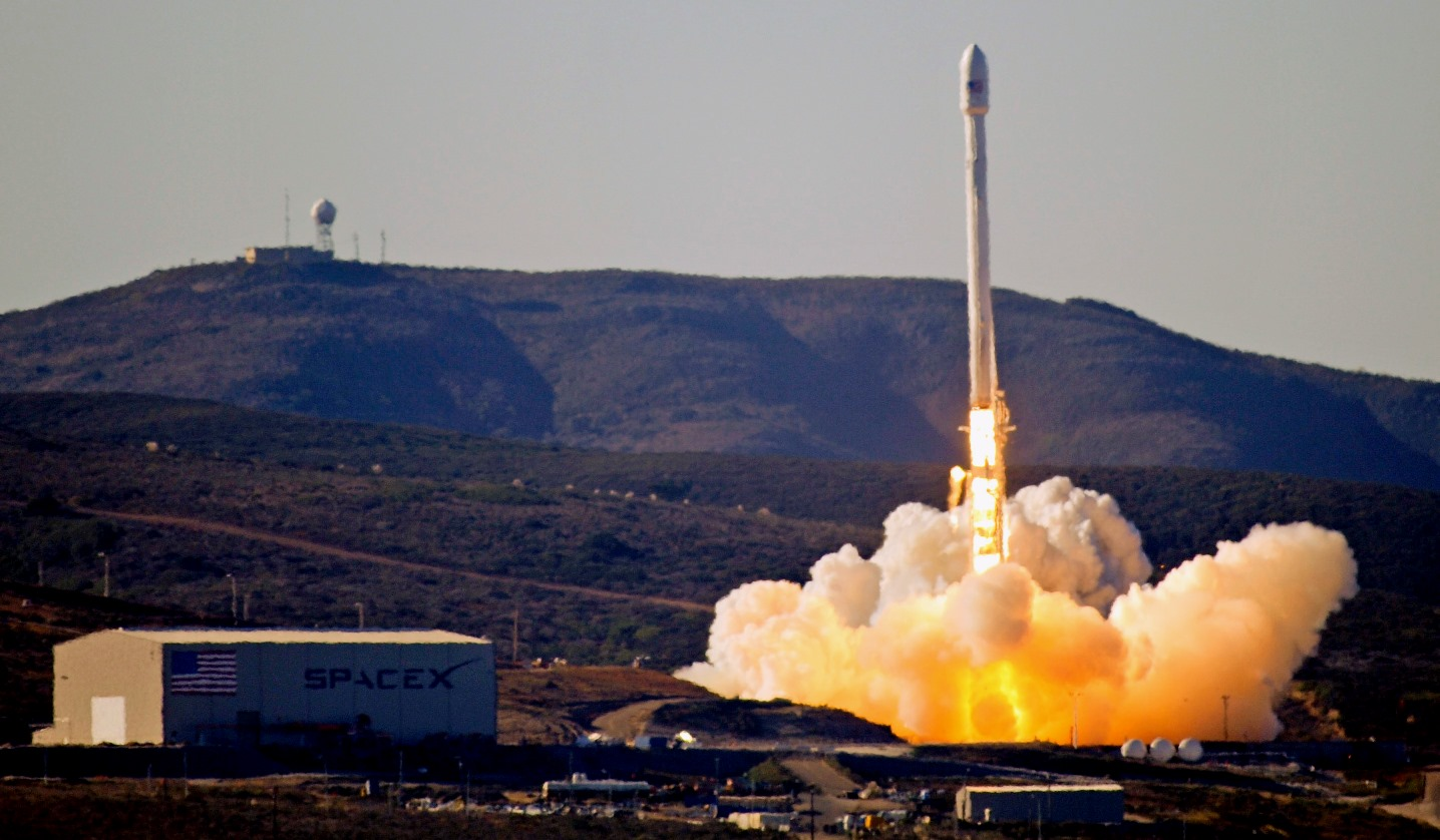 Archive photo of SpaceX Falcon 9 launching from Vandenberg Air Force Base photo credit USAF