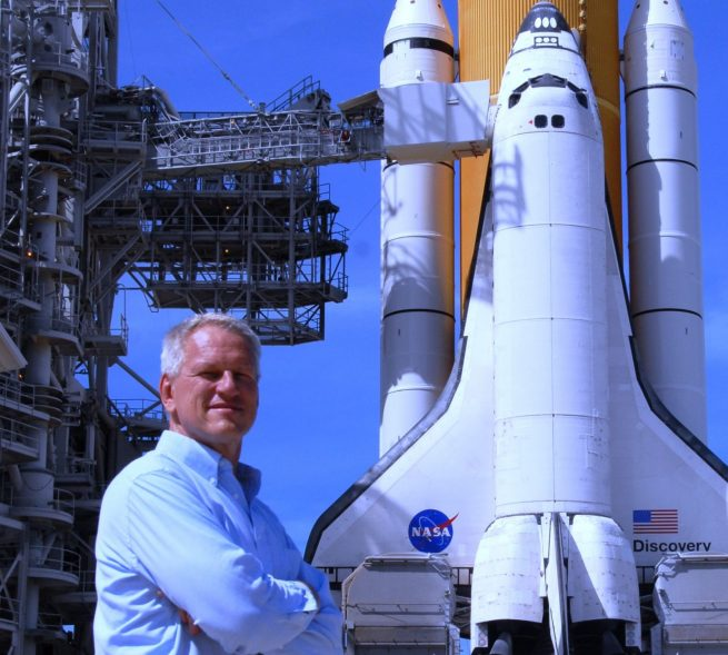 William Matt Gaetjens at NASA's Kennedy Space Center Launch Complex 39A photo posted on SpaceFlight Insider