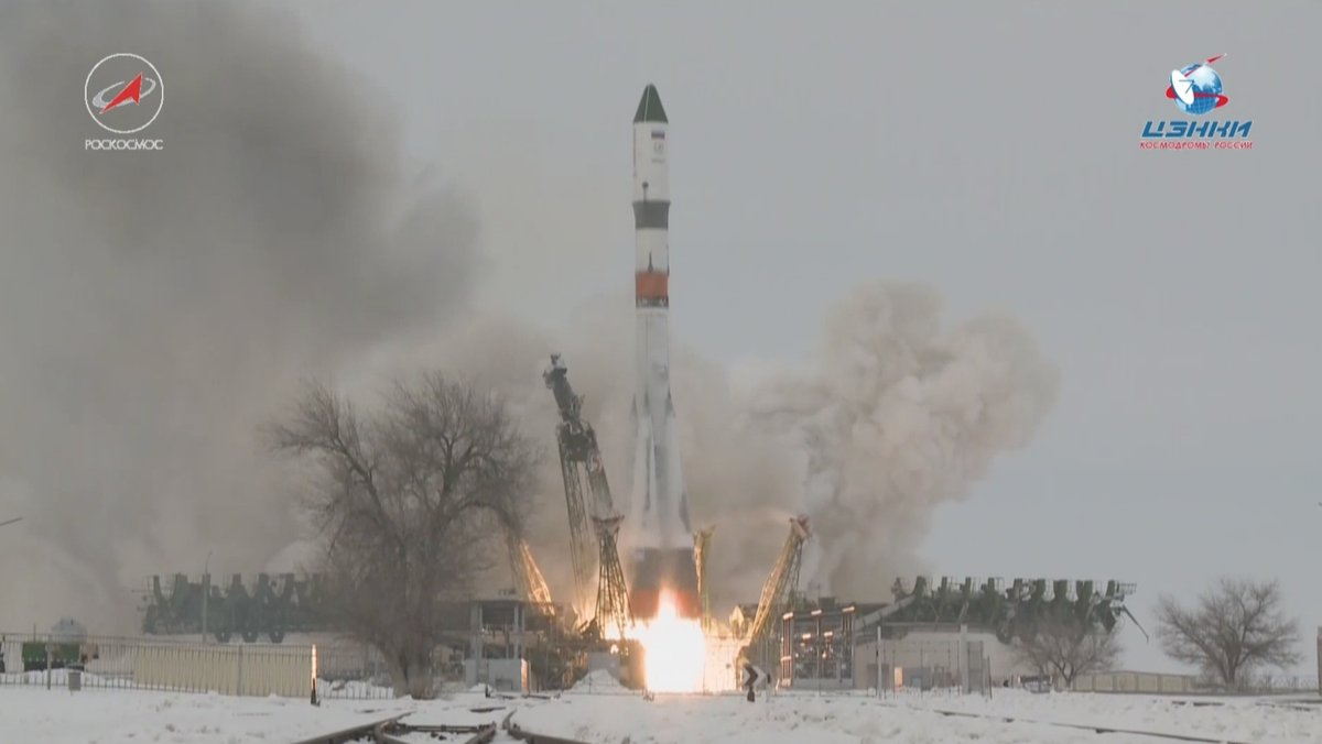 Progress MS-08 is launched by a Soyuz 2.1a rocket. Photo Credit: Roscosmos