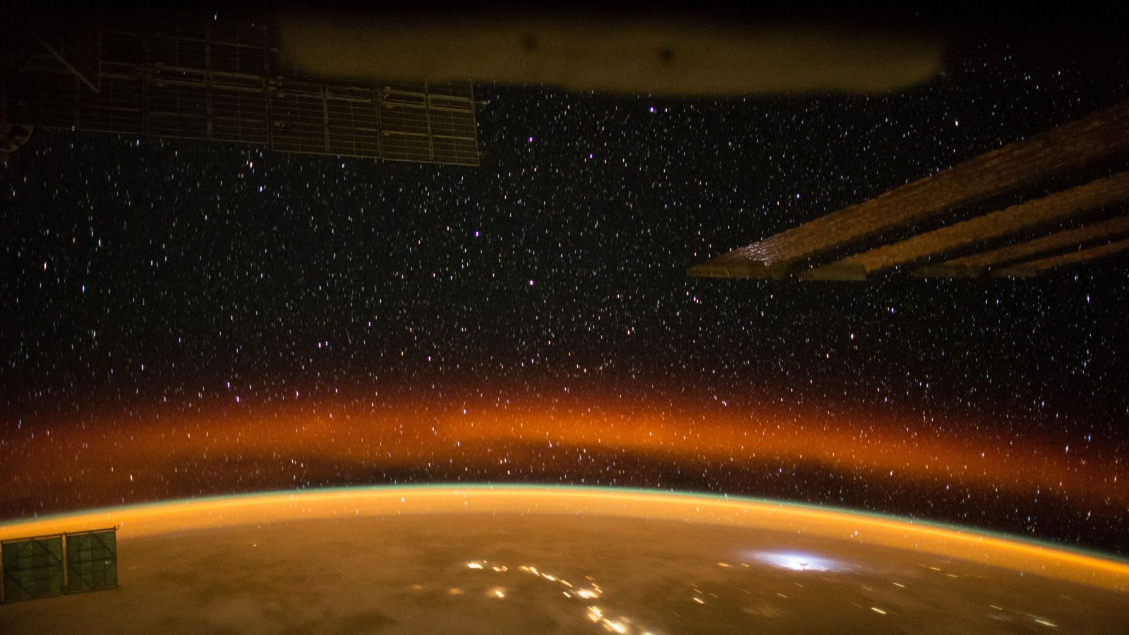 An orbital sunset as seen from the ISS. Photo Credit: NASA
