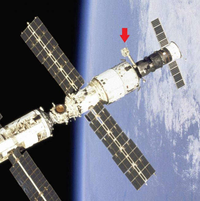 The Lira antenna is located on the Zvezda service module near the rear of the International Space Station. Photo Credit: NASA