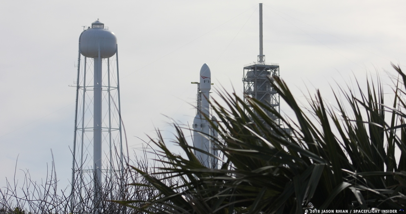 The launch window for the first flight of SpaceX's Falcon Heavy rocket is currently scheduled to open at 1:30 p.m. EST (18:30 GMT). Photo Credit: Jason Rhian / SpaceFlight Insider