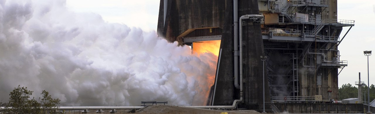 Aerojet Rocketdyne RS-25 rocket engine controller test Feb. 1, 2018. Photo Credit: NASA