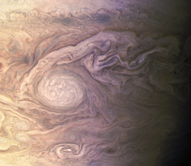 Jupiter during Juno's fourth perijove on Feb. 2, 2017. Photo Credit: Kevin Gill / NASA / JPL-Caltech / SwRI / MSSS