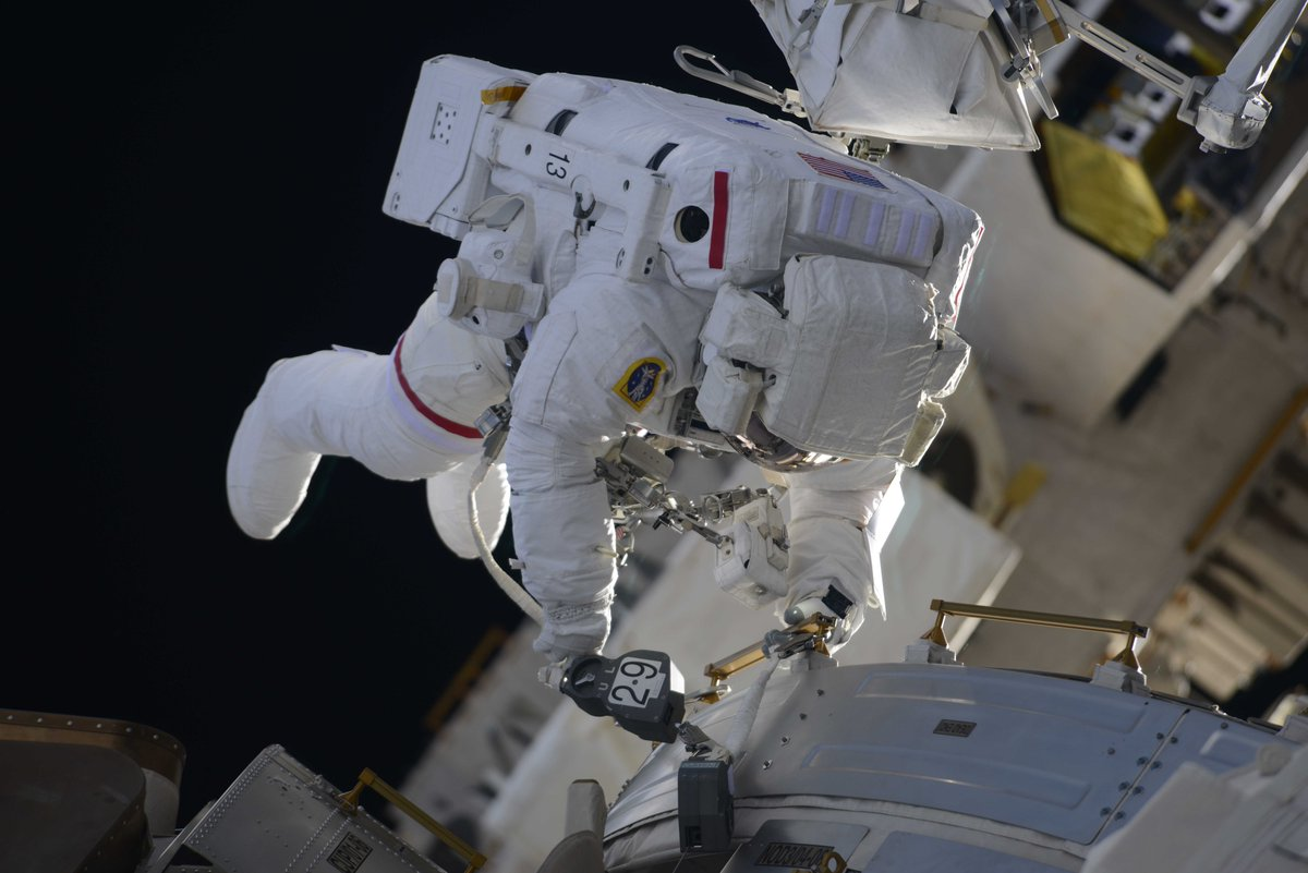 NASA astronaut Drew Feustel on the Tranquility module. Photo Credit: Oleg Artemyev / Roscosmos