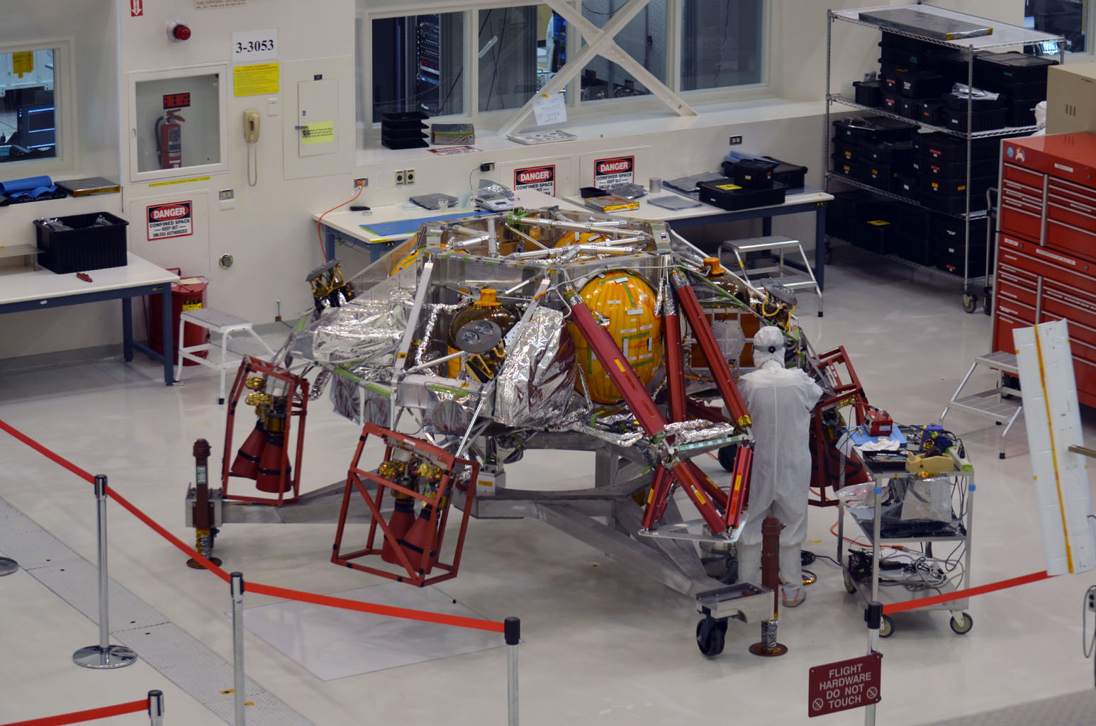 NASA begins Mars 2020 spacecraft pre-launch assembly