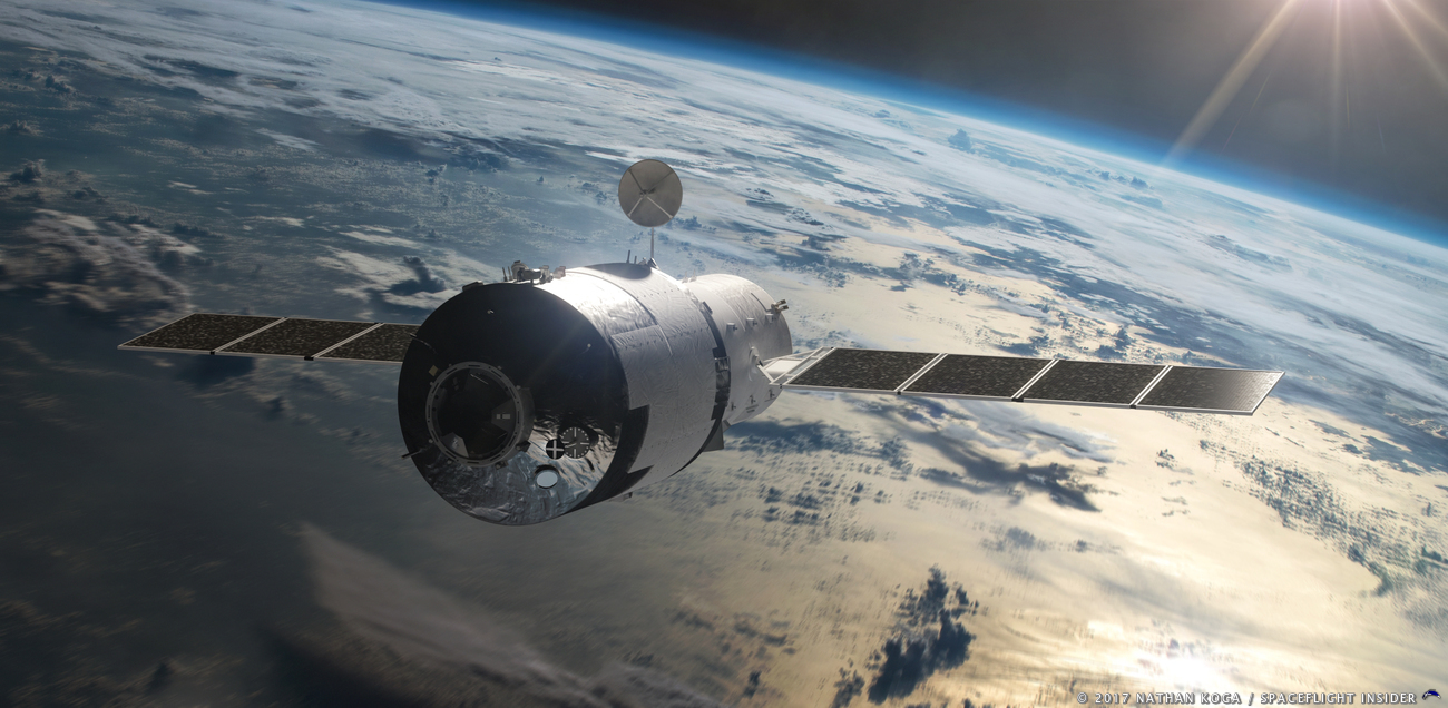 China's Tiangong-1 space station is predicted to fall back to Earth within the coming weeks. Image Credit: Nathan Koga / SpaceFlight Insider