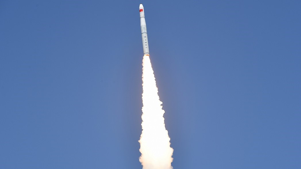 A Long March 11 launches five Zhuhai-1 satellites on April 26, 2018. Photo Credit: Xinhua / Wang Jiangbo