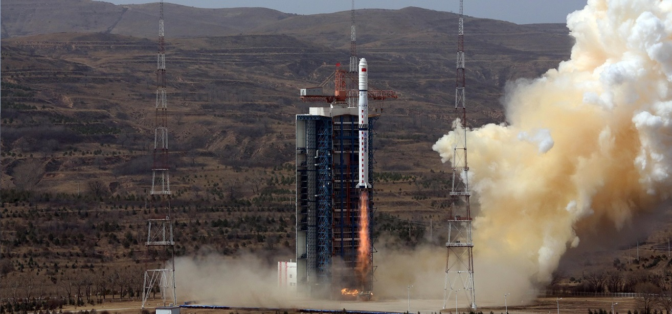 Long March 4C launches with the Gaofen-1 trio. Photo Credit: Xu Chuenlei/Xinhua