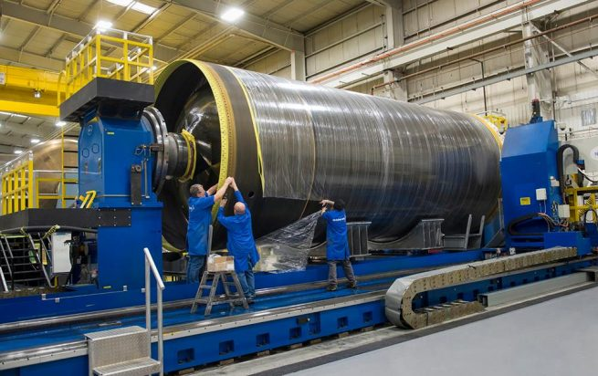 OmegA's first two stages will utilize solid rocket motors as well as an Aerojet Rocketdyne RL10 engine in its upper stage. Photo Credit: Orbital ATK