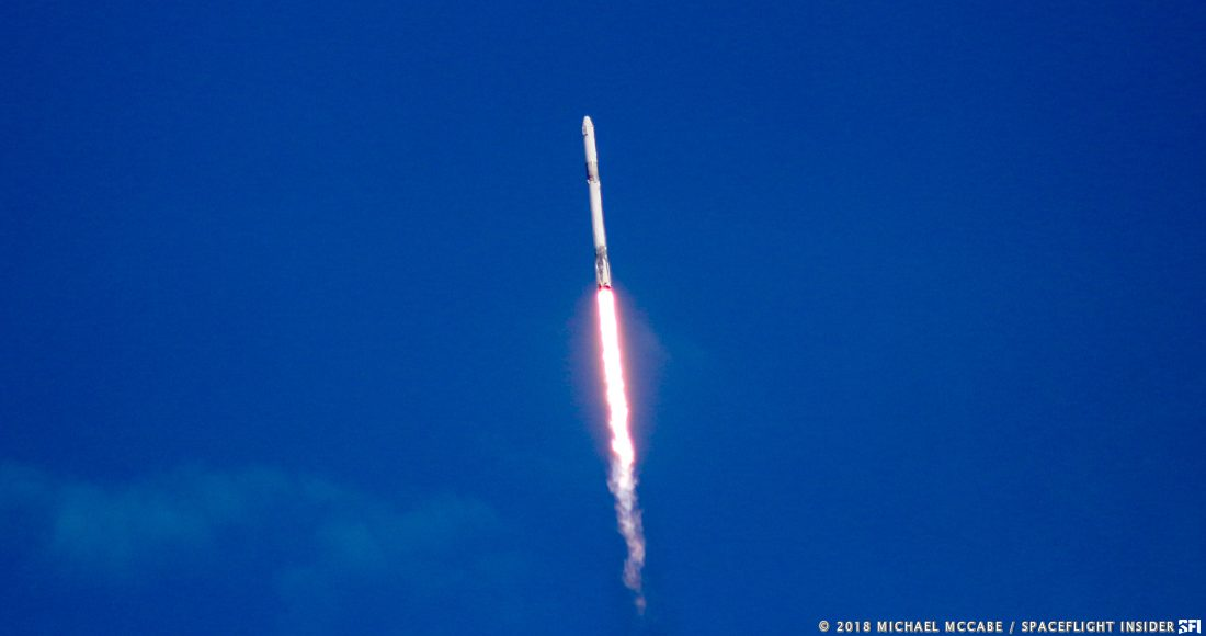 CRS-14 launches toward the ISS. Photo Credit: Michael McCabe / SpaceFlight Insider