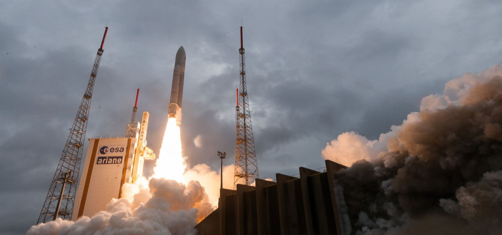 An Ariane 5 lifts off from Kourou, French Guiana. Archive Photo Credit Arianespace
