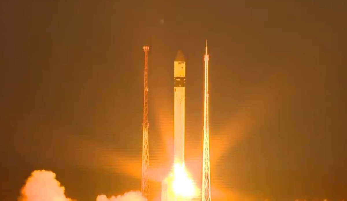 A Russian Rokot launch vehicle sends the European Sentinel-3B spacecraft into orbit. Photo Credit: ESA Webcast