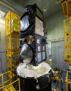 Sentinel-3B atop Briz-KM upper stage. Photo Credit: S. Corvaja / ESA