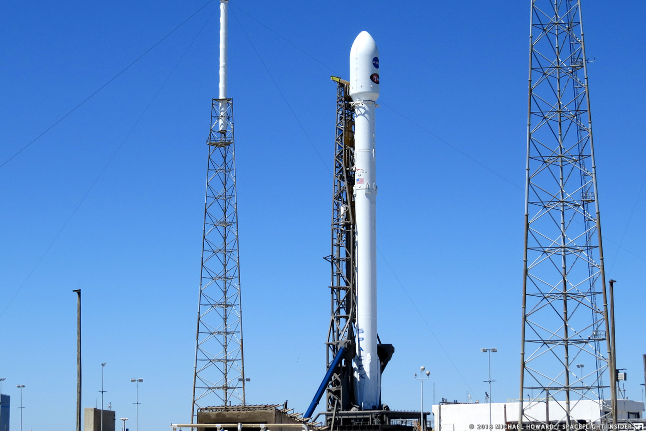 The launch of TESS atop a Falcon 9 rocket has been postponed at least 48 hours. Photo Credit: Michael Howard / SpaceFlight Insider