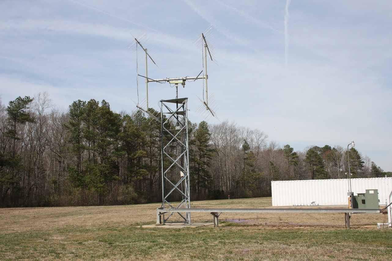A VHF antenna at NASA's Wallops Flight FAcility in Virginia. Photo Credit: NASA