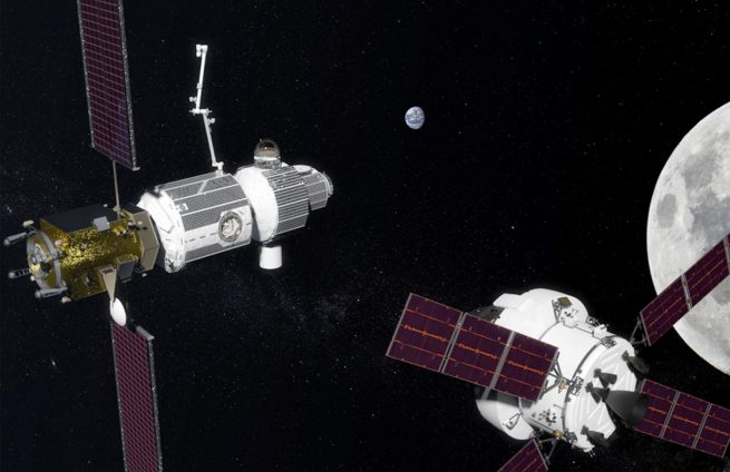 NASA's Lunar Orbital Platform-Gateway could play a central role in the agency's shifted focus from low-Earth orbit operations to cislunar space. Image credit: NASA