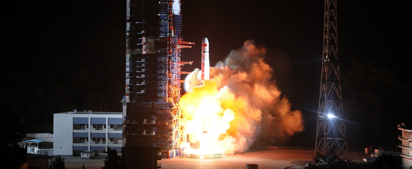 Long March 4C launches with Queqiao and two DSLWP-A satellites on May 20. 2018.