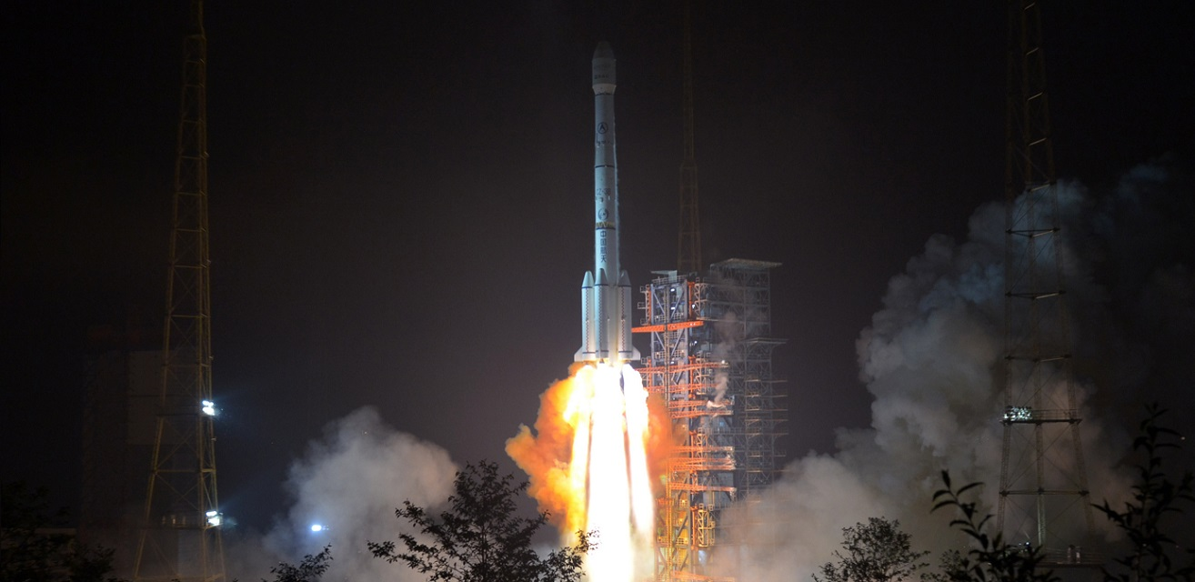 Long March 3B launches with APStar-6C communications satellite on May 3.