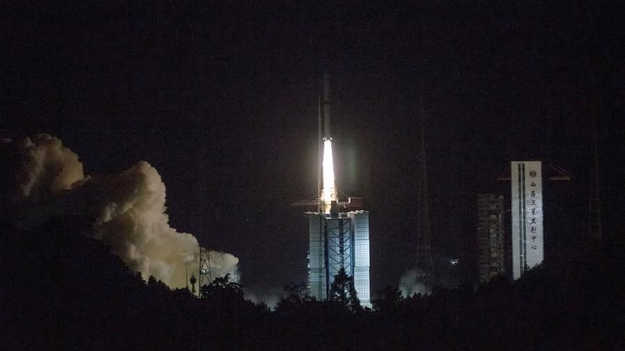A Long March-4C rocket launches with the Chang'e 4 communications satellite bound for the Earth-Moon L2. The satellite will act as a communications relay for the yet-to-be-launched Chang'e 4 lunar lander/rover combo. Photo Credit: Cai Yang / Xinhua