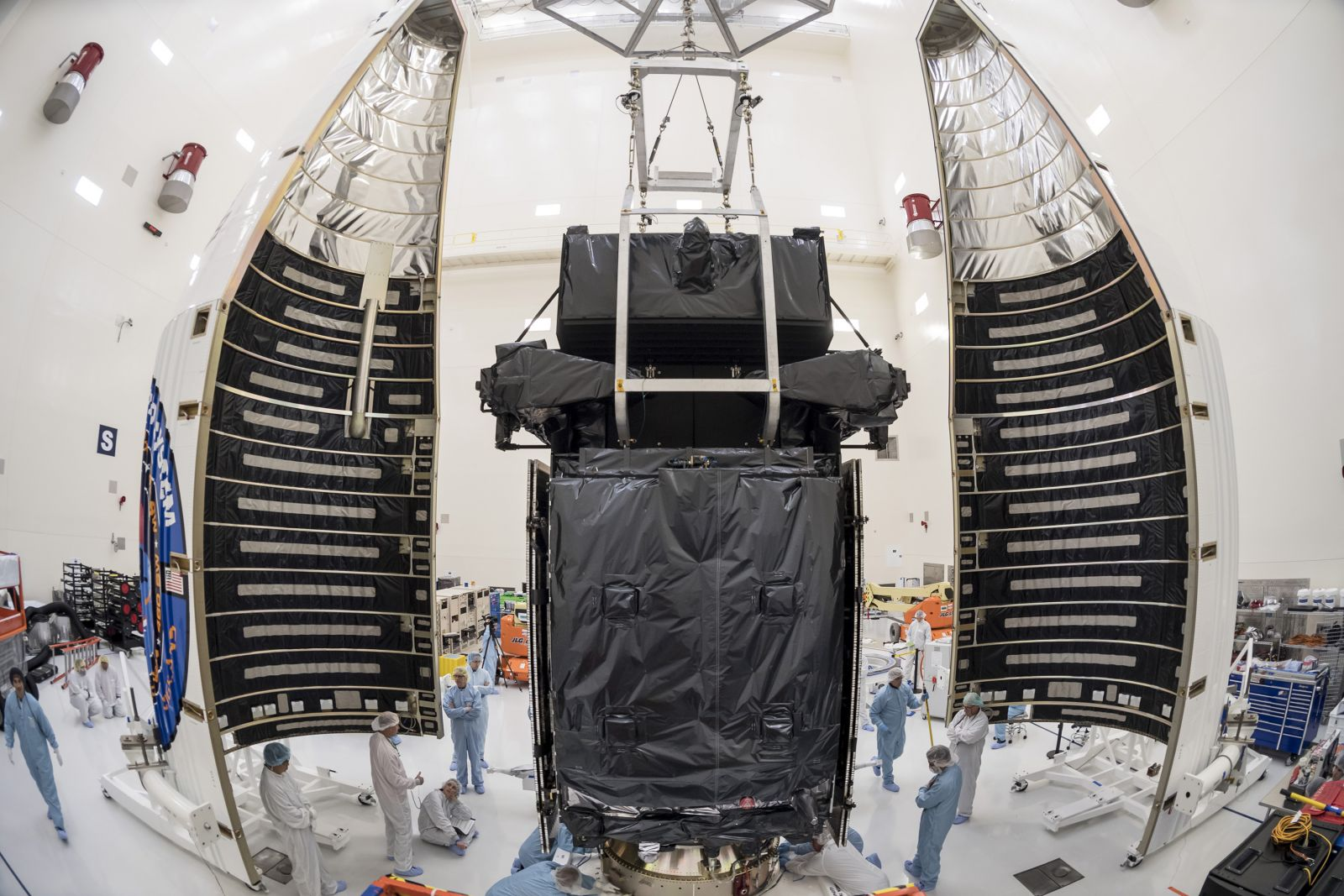 The SBIRS GEO-4 spacecraft prior to launch. Photo Credit: Lockheed Martin