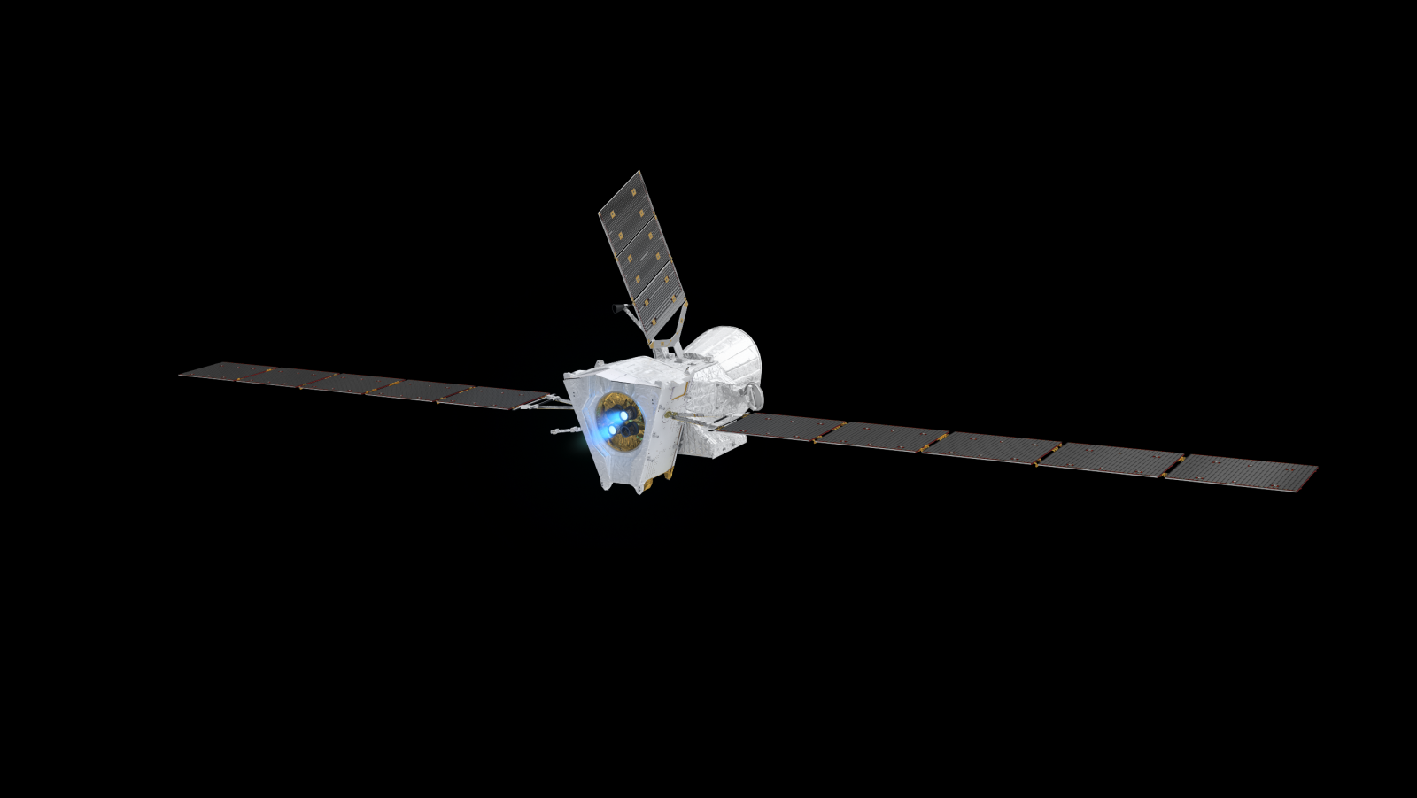 BepiColombo in its cruise configuration. Image Credit: ESA