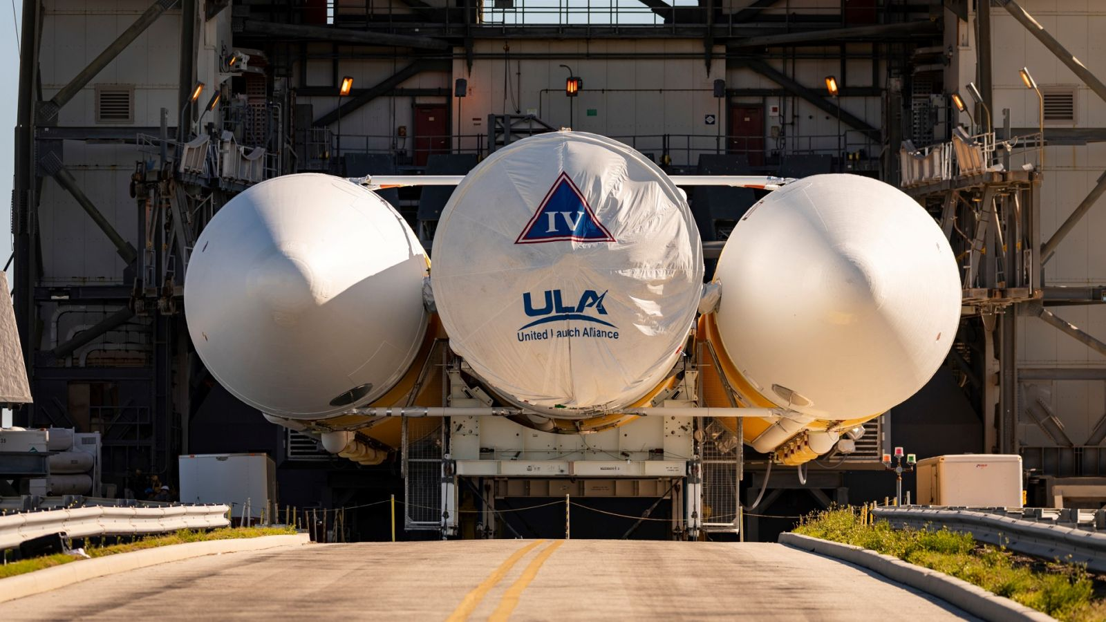 In April, ULA began stacking the Delta IV Heavy that will be used to send the Parker Solar Probe into space in July or August of 2018. Photo Credit: Ed Whiteman / Johns Hopkins APL / NASA