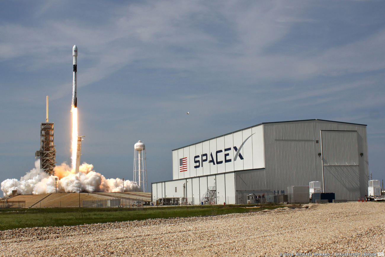 SpaceX's Block 5 Falcon 9 lifts off at Kennedy Space Center's Launch Complex 39A. Photo Credit: Michael Howard / SpaceFlight Insider