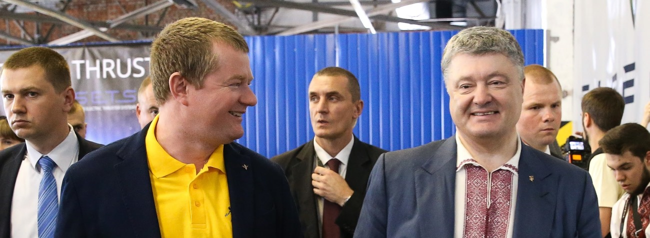 Max Polyakov and Petro Poroshenko at the new Firefly Ukraine R&D center. Photo Credit FireFlySpace.com