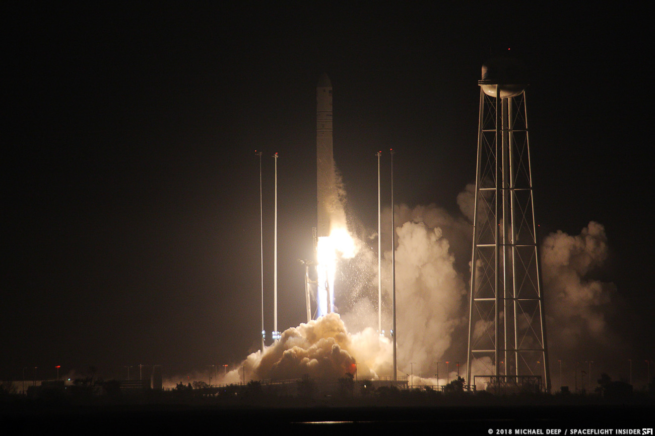 Antares sends the OA-9 Cygnus spacecraft toward space. Photo Credit: Michael Deep / SpaceFlight Insider