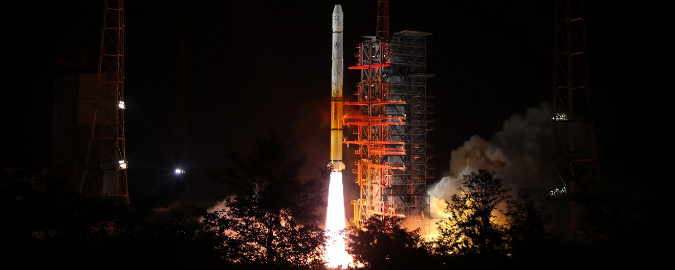 Fengyun 2H lifts off atop a Long March 3A launcher on June 5, 2018.