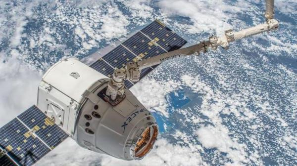 The CRS-15 Dragon cargo freighter should arrive at the International Space Station three days from now. Photo Credit: SpaceX