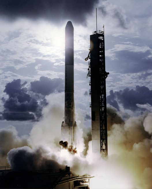A Delta rocket launches with the final OSO spacecraft - OSO-8. Photo Credit: NASA