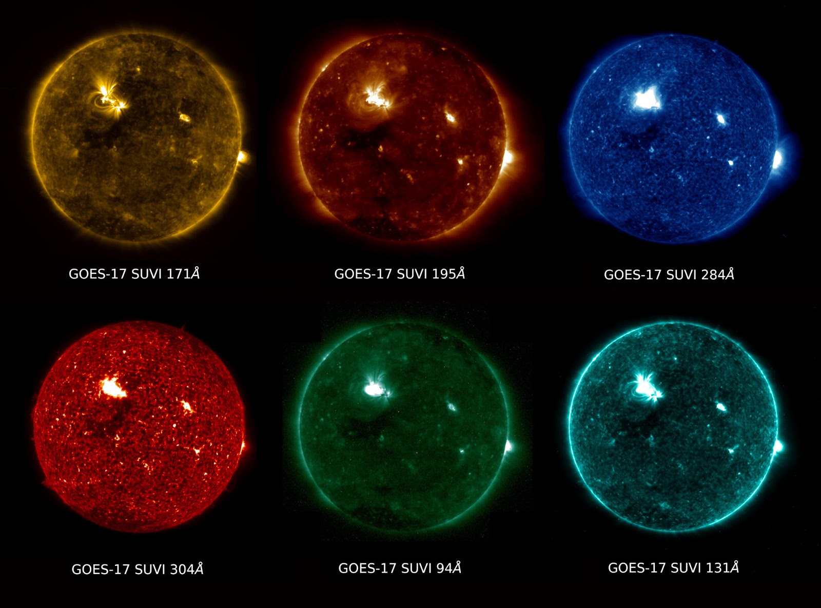 First images of the Sun taken by the SUVI instrument on the GOES-17 spacecraft. Photo Credit: NOAA / NASA