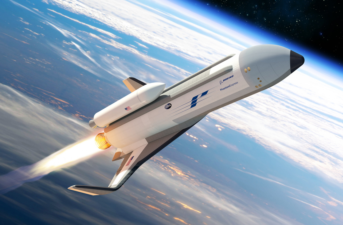 Phantom Express spaceplane image credit Boeing