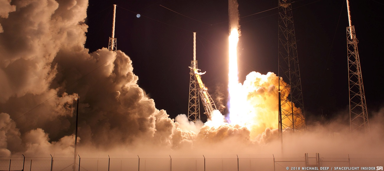 A SpaceX Falcon 9 lifts off from Cape Canaveral's Space Launch Complex 40. Photo Credit: Mike Deep / SpaceFlight Insider
