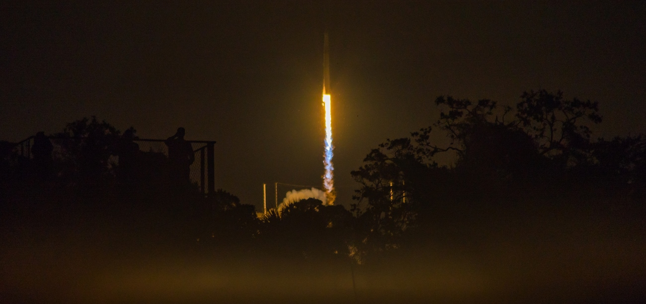 The last SpaceX Block 4 Falcon 9 leaves the launch pad at Canaveral's SLC-40 at 5:42 a.m. EDT on June 29, 2018. Photo Credit: Vikash Mahadeo / SpaceFlight Insider
