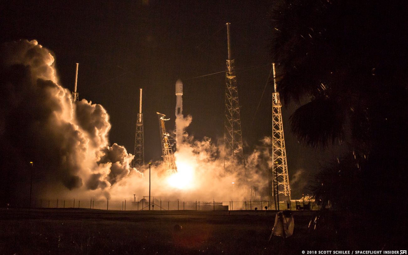 SpaceX's Falcon 9 launches the Telstar 19 VANTAGE satellite into space from Space Launch Complex 40 at Cape Canaveral Air Force Station, Florida. Photo Credit: Scott Schilke / SpaceFlight Insider