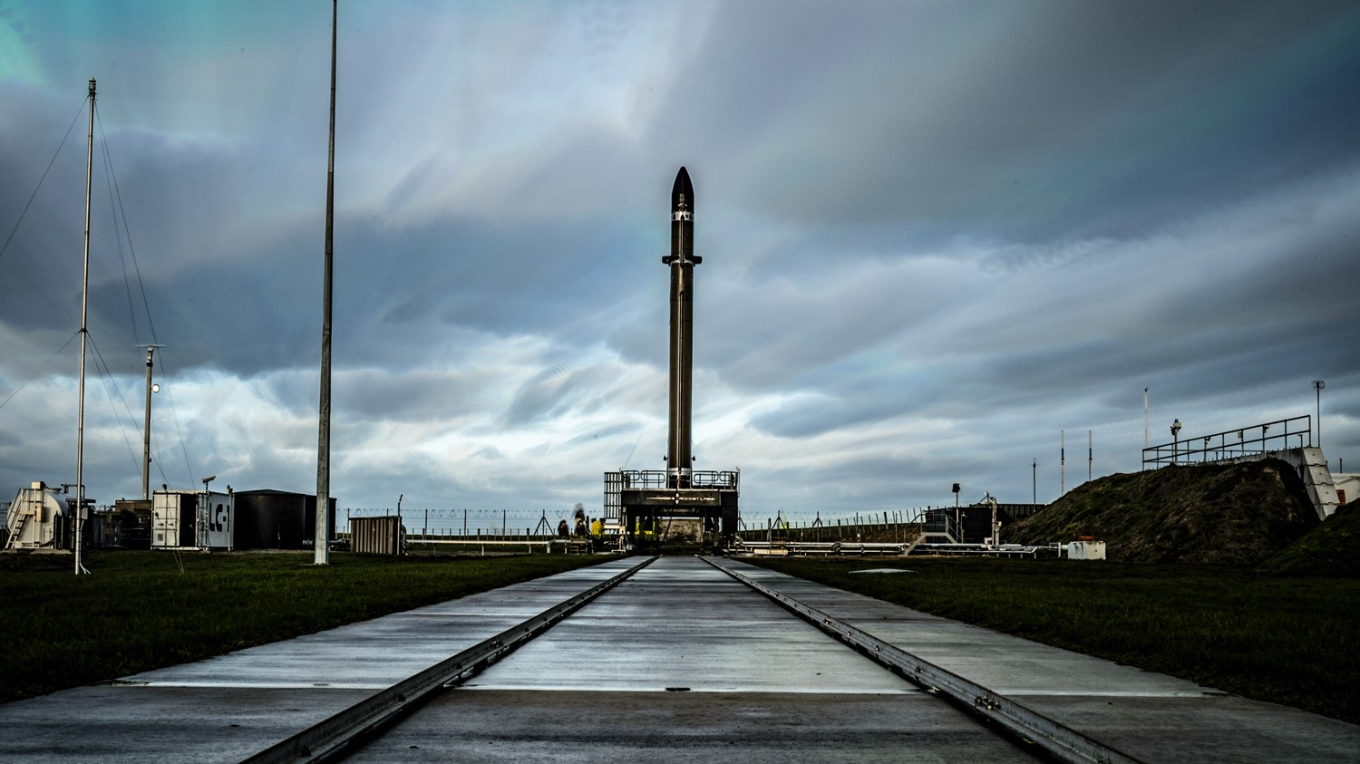 An Electron rocket stands at Rocket Lab's Launch Complex 1 in New Zealand. Photo Credit: Rocket Lab