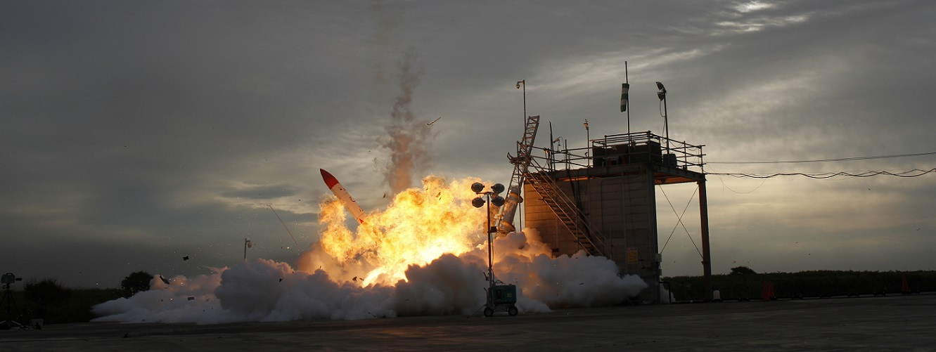 The MOMO-2 rocket crashes to the ground shortly after its launch on June 30, 2018. Photo Credit: Interstellar Technologies Inc.