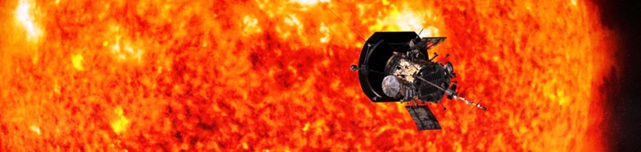 Artist's concept of the Parker Solar Probe spacecraft approaching the Sun. Launching in 2018, Parker Solar Probe is designed to provide new data on solar activity and make critical contributions to our ability to forecast major space-weather events that impact life on Earth. Image & Caption Credit: JHU-APL