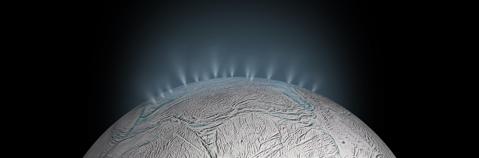 Scientists didn't know why Enceladus was the brightest world in the solar system, or how it related to Saturn's E ring. Cassini found that both the fresh coating on its surface, and icy material in the E ring originate from vents connected to a global subsurface saltwater ocean that might host hydrothermal vents. Image & Caption Credit: NASA / JPL-Caltech
