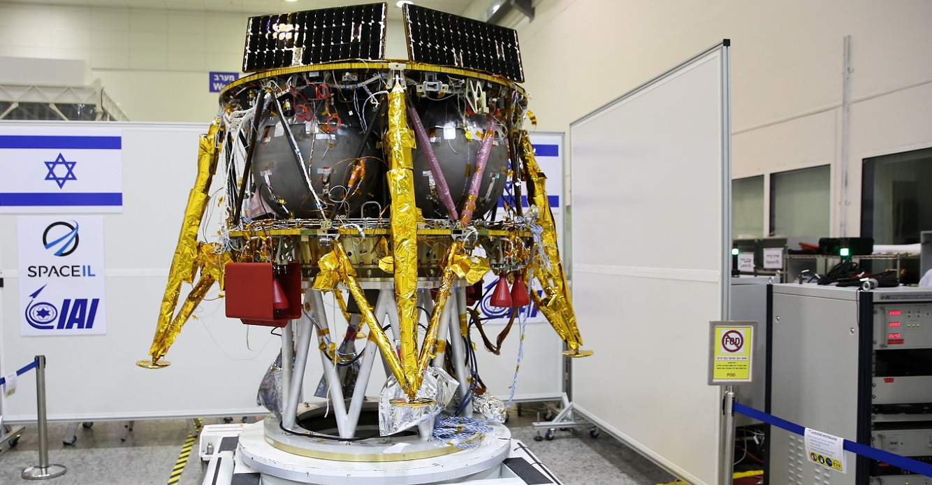 SpaceIL's spacecraft at a clean room.