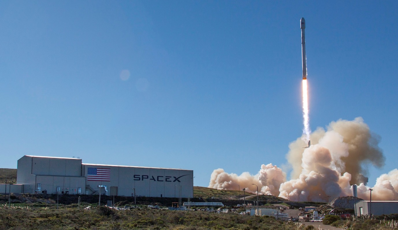 Launch of Iridium 1 from Vandenburg Air Force Station's Space Launch Complex 4. Photo Credit: SpaceX