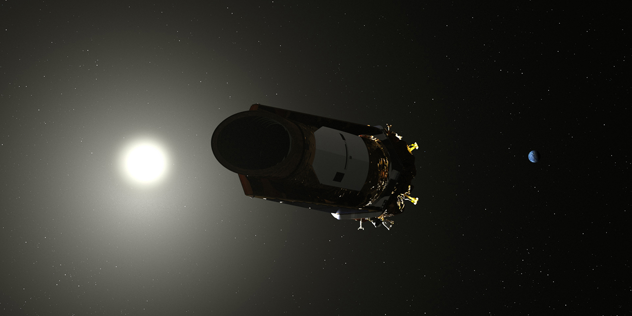 An artist's concept of NASA's Kepler spacecraft. Image Credit: NASA